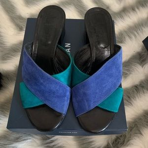 Luca Grossl Made in Italy US7 sandal heel.